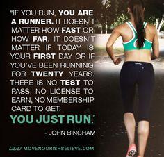 MOVE NOURISH BELIEVE as you run xx