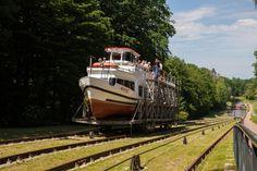 Kanał Elbląski, czyli rejs statkiem po trawie, 4.06.2016 r.