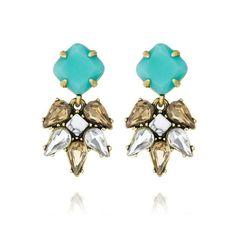 Chloe & Isabel Turquoise Crystal Stud Earrings