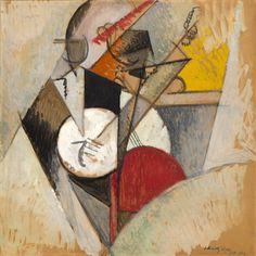 herzogtum-sachsen-weissenfels:Albert Gleizes (French, 1881-1953), Composition pour Jazz, 1915. Oil on cardboard, 73 x 73cm.