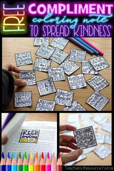 These coloring compliment notes are ideal for lifting the spirits in your classroom and spreading kindness! Teaching Character, Character Education, Character Development, Personal Development, Physical Education, Life Skills Lessons, Health Lessons, Kindness Notes, Social Emotional Learning