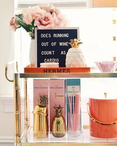 "I had a lot of questions about my letter board that I posted last week. You can use to write your fav quotes! Now, I'm missing the ""?"" Sign . I have linked the board and a diy kit for the #hermes tray here so you can pimp your #barcart too!  happy Friday friends!!!  http://liketk.it/2qbdK @liketoknow.it #liketkitug"