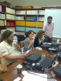 Spirometry training with hand-held spirometer Spiropalm at University of Athens (Greece), Dept. of Hygiene, Epidemiology and Medical Statist. Athens Greece, Statistics, Holding Hands, Flexibility, Hold On, University, Medical, Training, Back Walkover