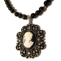Obsidian Necklace 05 Pendant Black Rainbow Lady Cameo Silver Beaded Gemstone Healing 18  Price : $65.00 http://www.idigcrystals.com/Obsidian-Necklace-Pendant-Rainbow-Gemstone/dp/B009380LY0