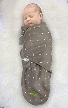 Swaddle Blanket, Adjustable Infant Baby Wrap Set by Ziggy Baby, 3 Pack Soft Cotton in Grey - http://our-shopping-store.com/baby-products.asp