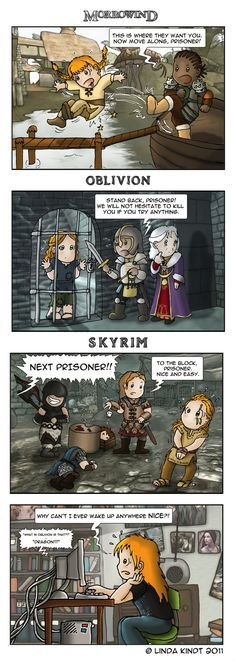 Oh I remember that in Oblivion. I've been so caught up with Skyrim that I haven't played Oblivion in over 2 weeks... :/