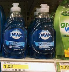 Target: Dawn Dish Soap $0.46 (Reg. Price $1.02) - http://couponsdowork.com/target-weekly-ad/target-dawn-dish-soap-0-46-reg-price-1-02/