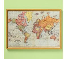 World Physical Wall Map Large Global Mapping Wall Map Hunt - Us map with world map in the corner
