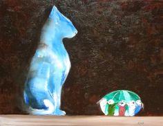 Silk Pin Cushion and Ceramic Oriental Cat by CinnabarandSiennaArt, $298.86