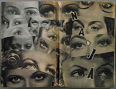 Marcel Mariën - 42 collages on a copy of André Breton's Nadja.