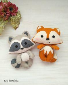 Fox pattern felt sewing Fox ornament DIY plush PDF pattern | Etsy Fox Pattern, Plush Pattern, Felt Animal Patterns, Stuffed Animal Patterns, Stuffed Animals, Fox Ornaments, Felt Crafts Diy, Fall Crafts, Felt Fox