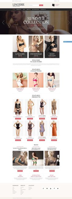 18+ Beautiful Ladies Fashion, Clothing & Accessories Shopify Themes - Lingerie Store