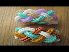 Rainbow Loom- Lotsa Knots Bracelet. Fish trails braided together
