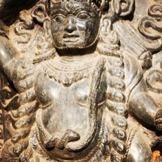 Fierce! Love the draped snake on this sculpted deity. #Himalayanjourney #Nepal #Buddhist #wanderlust