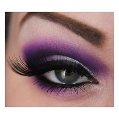 Step-by-Step: Purple with Make Up For Ever | Makeup Geek ❤ liked on Polyvore