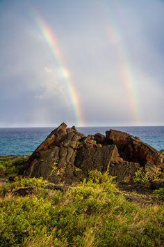 Double Rainbow at Hawaii volcanoes  National Park, The Big island, Hawaii. #volcano #rainbow #hawaii