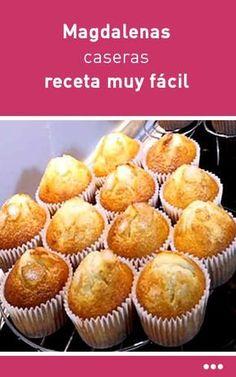 Magdalenas caseras receta muy fácil