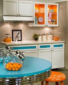 оранжевая кухня. дизайн интерьера 2015