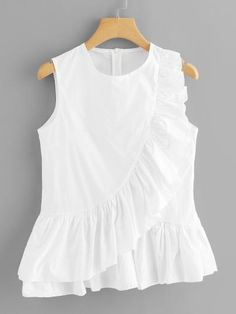 Fancy Tops, Trendy Tops, Mom Outfits, Trendy Outfits, Blouse Styles, Blouse Designs, Moda Junior, Simple Work Outfits, Diy Summer Clothes
