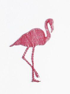 Flamingo: DIY String art