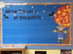 2012 October bulletin board ~ student decorated pumpkins for pumpkin patch