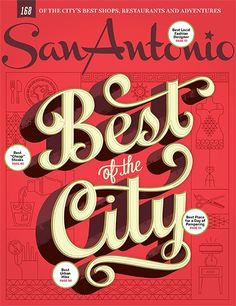 2015 Best of the City cover. Lettering by Alex Perez.