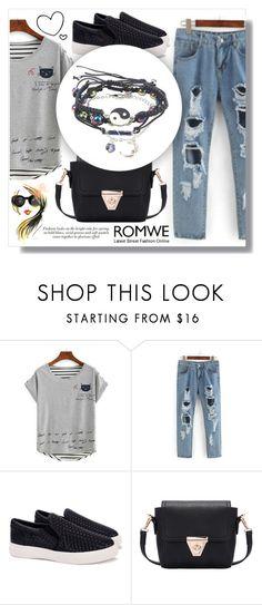 """Romwe 1. / III"" by amra-sarajlic ❤ liked on Polyvore featuring romwe"