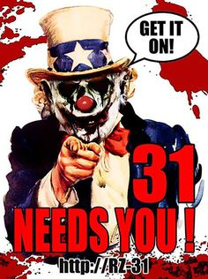 Rob Zombie - 31 - Movie - Creepy Clowns - Uncle Sam - Movies - Crowdfunding