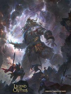 Artist: Nestor Ossandon aka Nezt - Title: giant - Card: Fudo the Stormhand