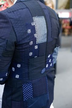 #patchwork #blue #indigo #fashion #menswear