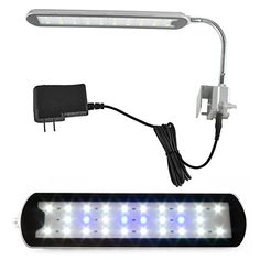 Use this!  Zitrades Fish Tank Aquarium Light Freshwater Saltwater Fish Fixture Flexible LED Aquarium lighting Blue and White 3 Modes 28LEDs 7W with 12V 1A Power Supply for Plant Reef Pet Supplies