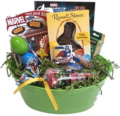 Care package gift baskets with 54 sweet and salty snacks for avengers activity easter gift basket with chocolate bunny check out the image by visiting negle Choice Image