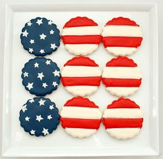 Fourth of July cookies; stars, stripes and sweetness!