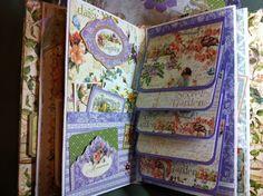 M-C's Friendship Corner: Graphic 45 Design Team 2013 Submission - purple mini album pages.