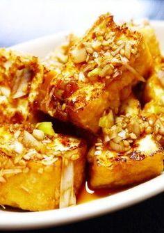 簡単★焼くだけ!厚揚げの油淋鶏風 Cafe Food, Food Menu, Tofu Recipes, Cooking Recipes, Japenese Food, Boiled Food, Foods To Eat, Desert Recipes, Easy Cooking