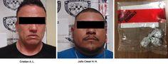 Policías Investigadores capturaron en la colonia Che Guevara a dos narcomenudistas de Los Aztecas | El Puntero