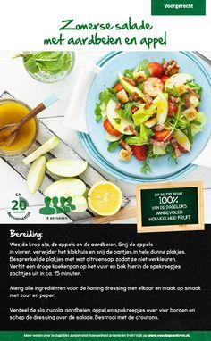 Recept voor een zomerse salade met aardbeien en appel #Lidl
