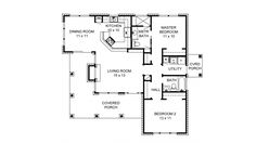 Home Plan HOMEPW26937 - 1063 Square Foot, 2 Bedroom 2 Bathroom + Cottage Home with 0 Garage Bays | Homeplans.com