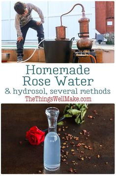 With a pleasant scent and anti-inflammatory properties, rose water and rose hydrosol are the perfect addition to homemade cosmetics. Learn several ways to make your own rose water or hydrosol and the difference between them. #rosewater #hydrosols #roses #floralwaters #naturalskincare #thethingswellmake #miy Natural Hair Care Tips, All Natural Skin Care, Natural Face, Rose Essential Oil, Essential Oil Perfume, Homemade Rose Water, Fresh Rose Petals, How To Make Rose