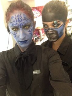 Halloween makeup: Mystic & Sub Zero (Mortal Kombat) by CarrefourLaval. Tag your pics with #Halloween and #SephoraSelfie on Sephora's Beauty Board for a chance to be featured!
