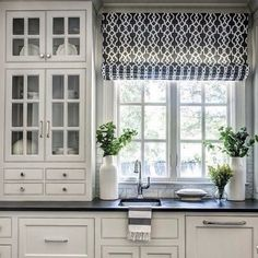 Love the blind in this kitchen!