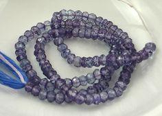 Violet Quartz Faceted Rondelles 4mm