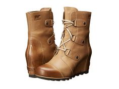 SOREL Joan Of Arctic Wedge™ Mid Dark Fossil - Zappos.com Free Shipping BOTH Ways