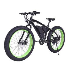 Costway Electric Fat Tire Bike Mountain Snow Bicycle E-Bike Lithium Battery 7 Speed 350W, Silver