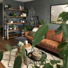 60 modern bohemian living room inspiration ideas 61 ~ Design And Decoration - Wohnen - Living Room Decor Tips, Living Room Inspiration, Home Living Room, Interior Design Living Room, Living Room Designs, Living Spaces, Cosy Living Room Small, Apartment Living, Small Living