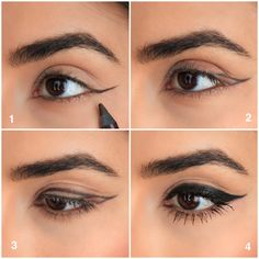 Bold Cat Eye Tutorial in 3 Easy Steps - Sazan Cat Eye Makeup Tutorial, Eye Makeup Tips, Skin Makeup, Sazan Hendrix, Nail Design Spring, Manicure Nail Designs, Matte Nails, Acrylic Nails, Shellac Nails