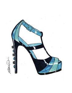 Ruthie Davis shoe sketch