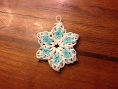 rainbow loom snowflake charm - Google Search                                                                                                                                                                                 More