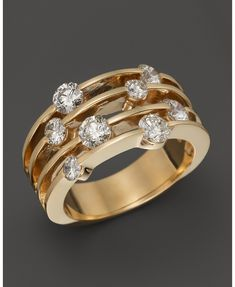 Diamond Band in 14K Yellow Gold, 1.50 ct. t.w. - 100% Exclusive | Bloomingdales's