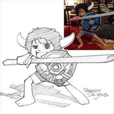 75 Strangers como anime inspirou Sketches por Rober DeJesus